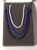 Nolan Miller Glamour Collection Couture Bugle Beaded 3 Necklace Set