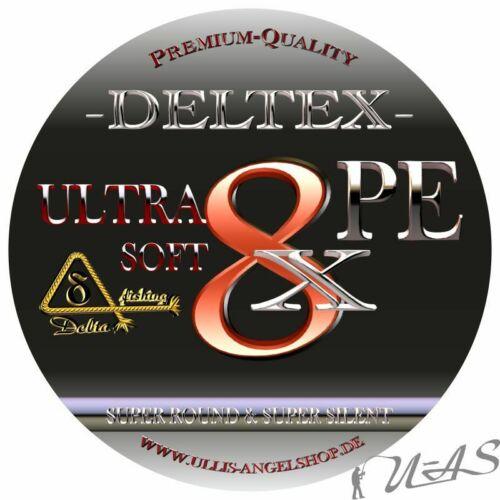 Deltex Ultra Soft Rot 300M /& 1000M 8 Fach Rund Geflochtene Angelschnur Sha