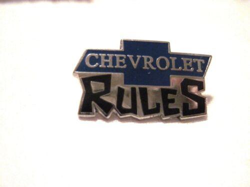 CUSTOM HOT ROD,RACING CHEVROLET RULES  CHEVY BOWTIE HAT PIN,LAPEL PIN