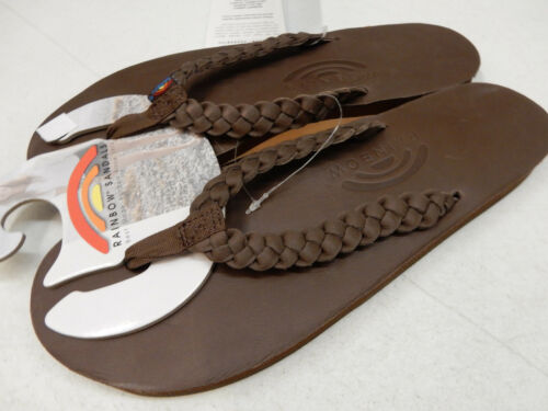 202fae6662c Rainbow Womens Sandals Classic Leather 301aldbs Twisted Sister Mocha Size L