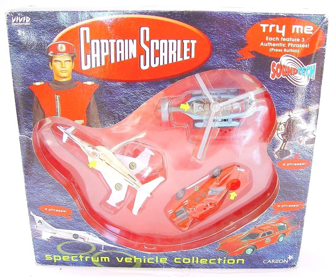 Carlton lebhafte captain scarlet 3x spektrum fahrzeug gerry anderson tv & film - set