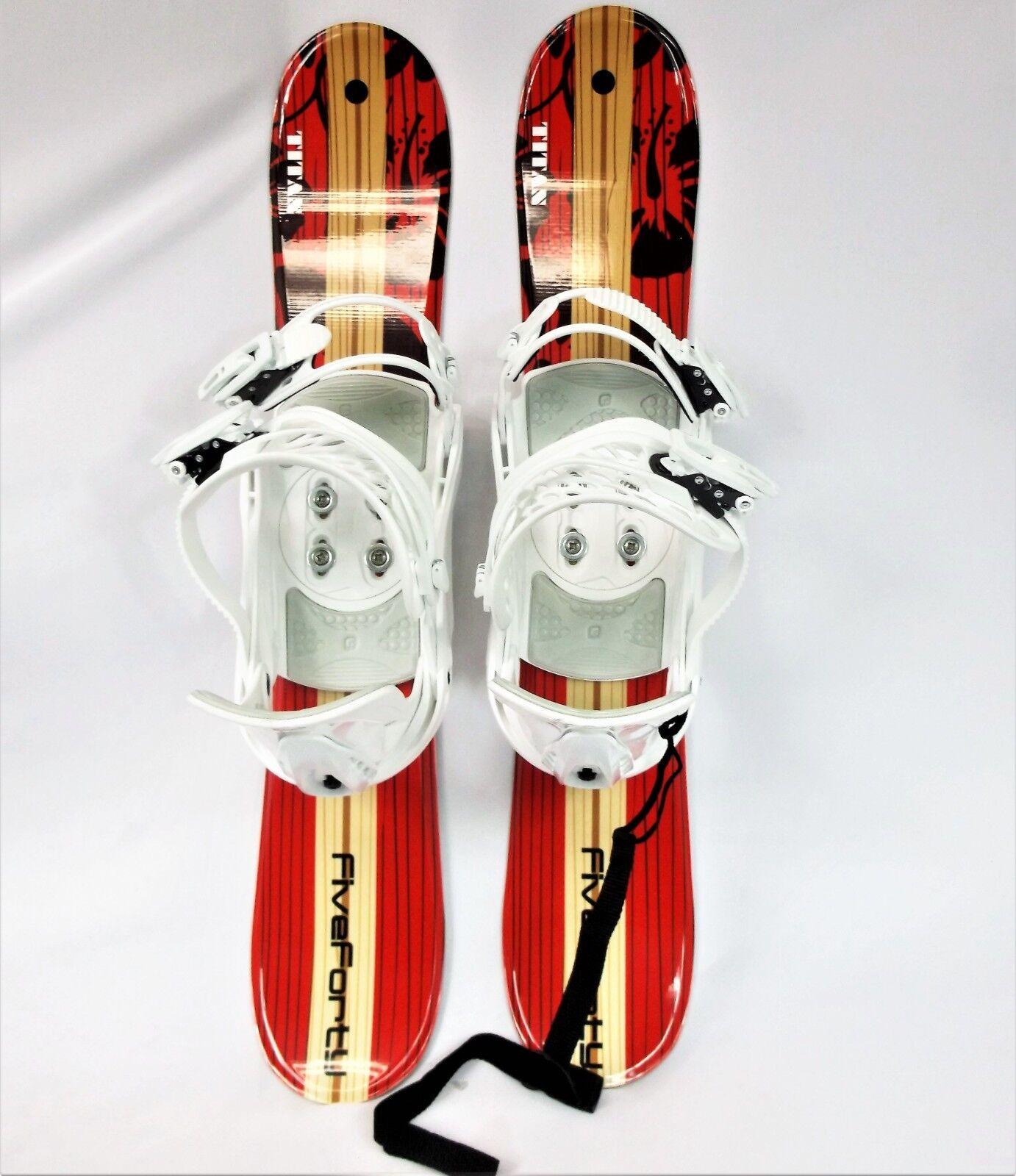 Snowblade & Binding, FiveForty 75cm,Titan WIDE, Ski Blade, FiveForty Binding