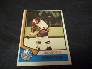 1974-75-OPC-O-Pee-Chee-195-Denis-Potvin-RC-Islanders-nrmtmt