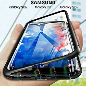 Coque-pour-Samsung-Galaxy-S10-S10e-S10-Plus-Magnetica-360-Arriere-Verre-Trempe