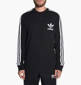 Details about Men Adidas Originals Long Sleeve Pique Tee Retro Sweatshirt L XL 2XL