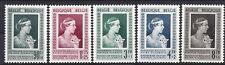 BELGIE COB 863-867 mi 909-913 (1951) plakker