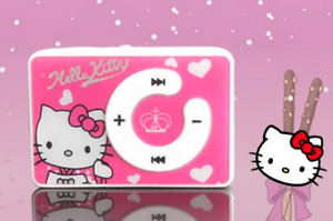 DELUXE-Hello-Kitty-Bundle-MP3-Player-Wallet-Pen-Badges-Shoe-Buckles-amp-Stickers