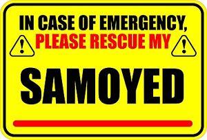 IN-EMERGENCY-RESCUE-MY-SAMOYED-STICKER