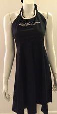 Little Black Dress Apron, 100% Cotton, Stylish, Faux Pearls, Lace Accents