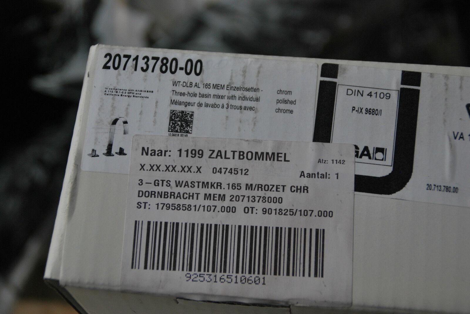 DORNBRACHT 20713780-00 MEM WASCHTISCH DREILOCHBATTERIE EINZELROSETTEN 2071378000