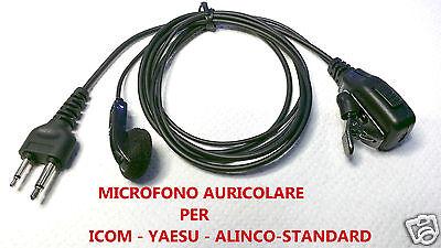 MICROFONO AURICOLARE COMPATIBILE ICOM YAESU ALINCO STANDARD NUOVO