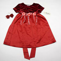 Amy Byer Girls Sz 6 Dress Velvet Red Rose Special Occasion Holiday Portrait