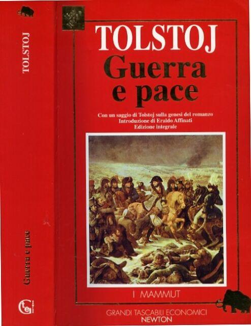 """* TOLSTOJ """" Guerra e pace """" Ediz.Integrale - Editore NEWTON (1995)"""