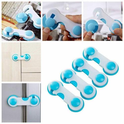 5//10 x Child Baby Cupboard Cabinet Safety Locks Proofing Door Drawer Fridge Kids