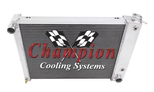1967-1969 Chevrolet Camaro Small Block-Champion 3 Row Radiator w// Dual 10in Fans