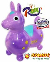 Gymnic Rody Horse Inflatable Bounce & Ride, Mts Exclusive Purple & Pink Swirl