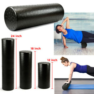 Black-Extra-Firm-High-Density-Foam-Roller-Muscle-Back-Pain-Trigger-Yoga-Massage