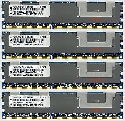16GB (4X4GB) DDR3 MEMORY RAM PC3-10600 ECC REG DIMM