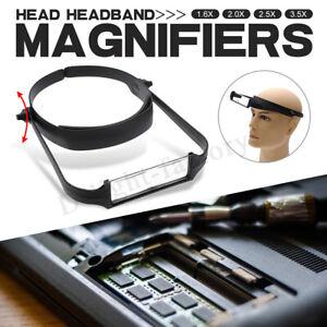 1-6x-2-0x-2-5x-3-5x-Head-Headband-Replaceable-Lens-Loupe-Magnifier-Magnify-D