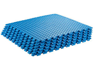 Puzzle Exercise Interlocking Yoga Mat Blue 819497017015 Ebay