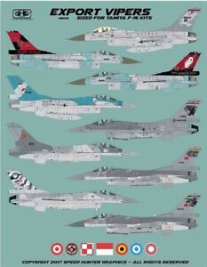 Speed-Hunter-Graphics-1-48-Export-Vipers-for-Tamiya-F-16-Kits-SHG48016
