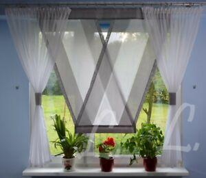 Details zu Moderne Gardinen Wohnzimmer Fensterdekoration Grau Fenster 140  -180 Nr. 628