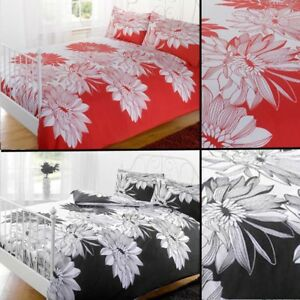 Big Bold Floral Photographic Print Duvet Quilt Cover Bedding Set