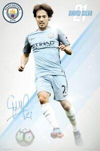 Manchester City Poster Man City MCFC Silva 16//17 61x91.5cm