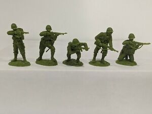 Conte-WWII-U-S-GI-039-S-Bloody-Omaha-5-Figures-Light-Medium-Green-Color-1-32-C