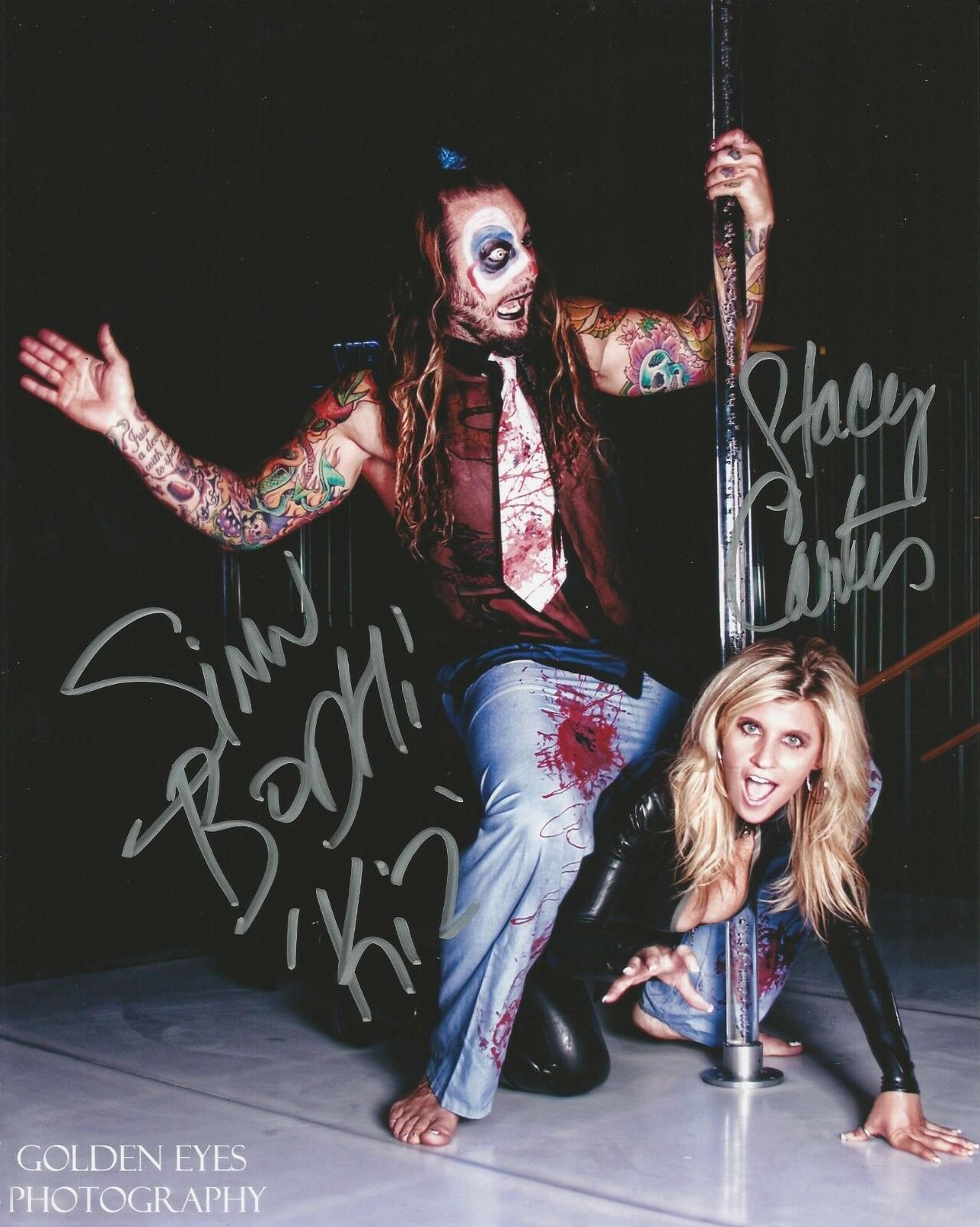 Stacy Carter And Sinn Bodhi WWE Pro Wrestlers Signed 8x10 Photo