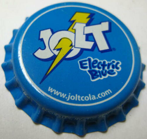 JOLT ELECTRIC BLUE unused Soda CROWN Bottle CAP NEW YORK Rochester CALIFORNIA