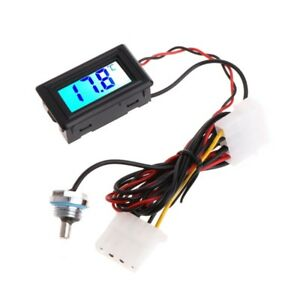 Waterproof Backlight Pointer Digital Display PC Water Cooling System Thermometer