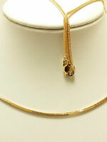 18k Solid Rose Gold Wheat Necklace / Chain 3.93 Grams