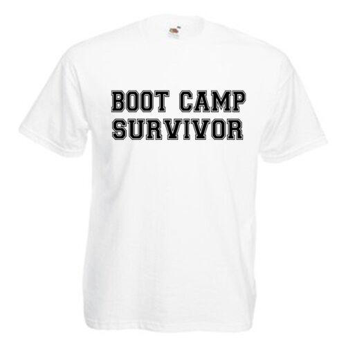 Boot Camp Survivor Adults Mens T Shirt 12 Colours  Size S 3XL