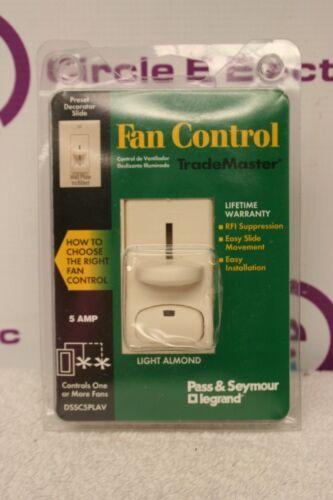 Off White PASS /& SEYMOUR DSSC5PLAV Fan Control TradeMaster *NEW* Almond
