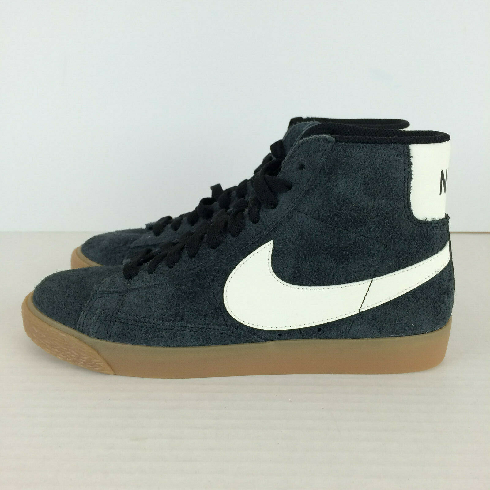 Nike Womens Blazer Mid Suede Vintage shoes Black Gum 518171-017 Women 7