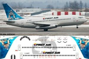 V1-Decals-Boeing-737-200-First-Air-for-1-144-Airfix-Model-Airplane-Kit-V1D0002
