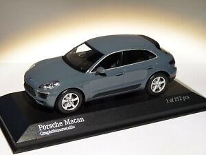 PROMO-Porsche-MACAN-de-2013-gris-au-1-43-de-Minichamps