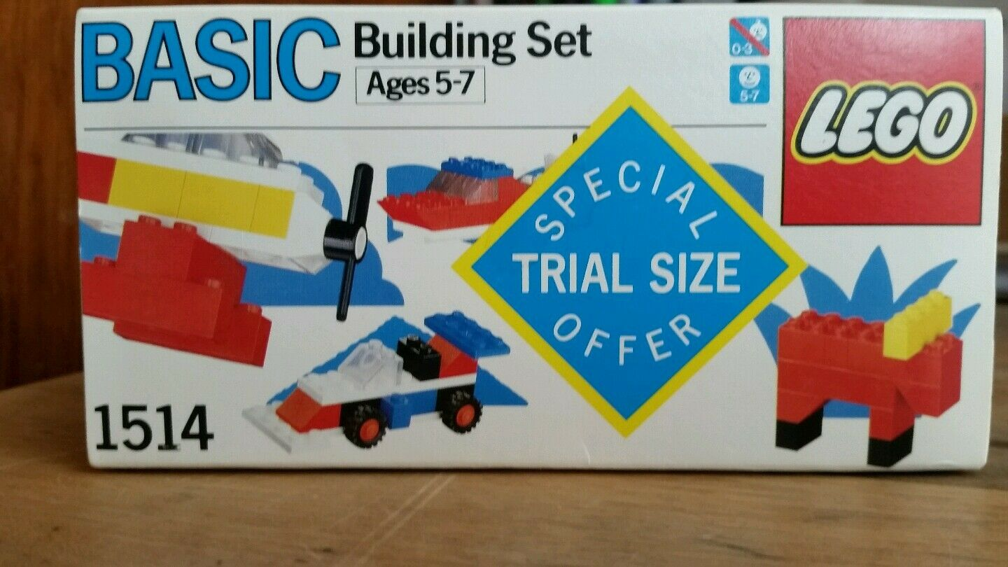 RARE Lego BASIC 1514 new in in in box misb mib sealed trial size - VINTAGE ab61b1
