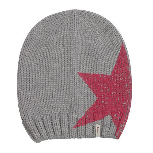 (P53) Chunky Knit Hat Freaky Heads Beanie Winter Hat Big Star Print & Logo Flag