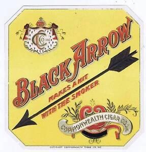 Black ARROW - Original Externe Cigare Boîte Label fEHmufp2-09091725-855181063