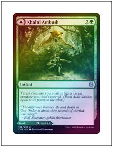 Khalni Ambush 192 Zendikar Rising Mtg x4 4x ZNR Magic