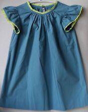 Bonpoint Bebé Verde Azulado Vestido 3 años