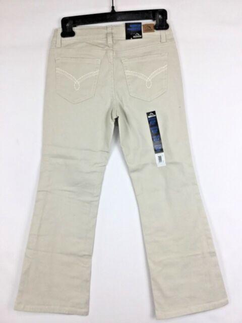 68ca27e279f JORDACHE Girls Bootcut Denim Jeans 8 1 2 P Plus Fit Adjustable Waist Light  Khaki