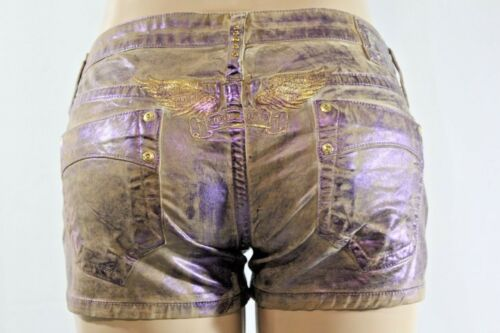 Robin's Gold Usa Jean 31 Sz Wings Purple Coated Embroidered Short wrT1Ezxqr