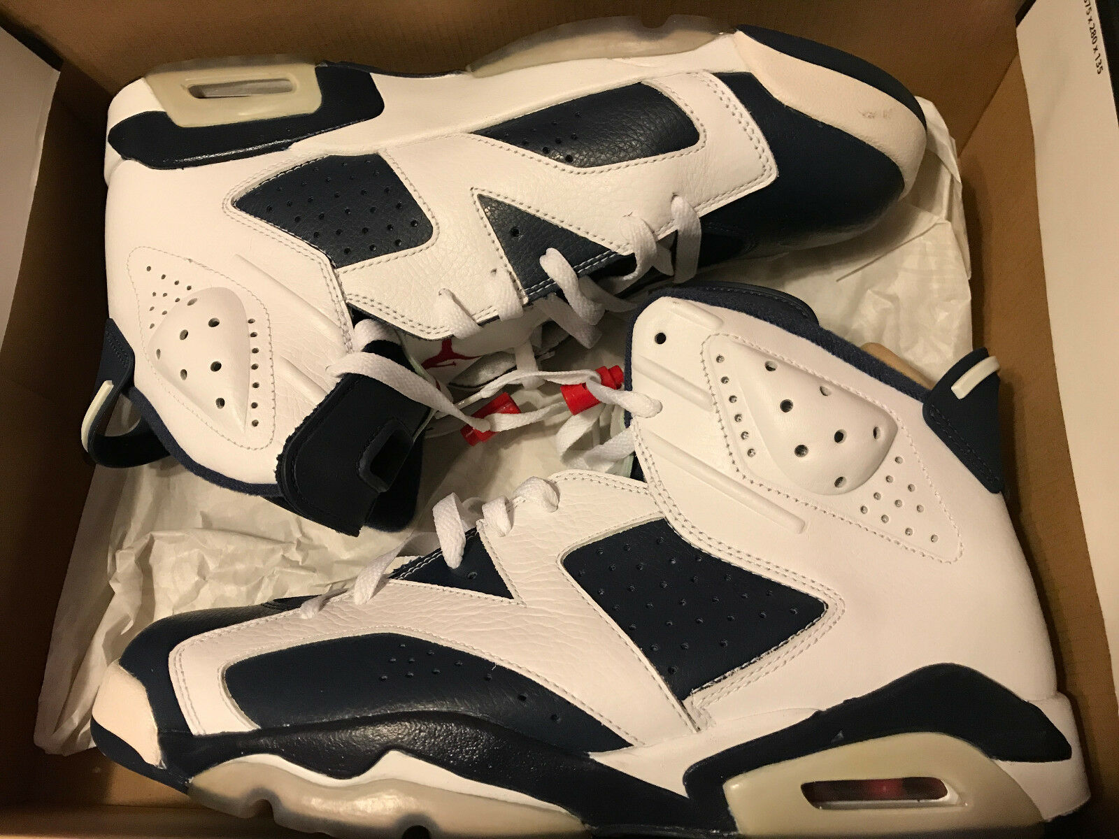 USED Nike Air Jordan Retro VI 6 Olympic Size 12