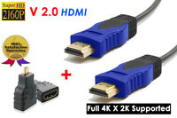 6ft. Hdmi 2.0 Cable 4kx2k Audio Return 3d Ps4 + Micro Hdmi 1.4 Adapter Coupler