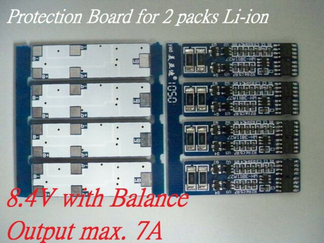 Protection Board for 2 Packs 8.4V Li-ion Lithium 18650 Battery O/P 7A w/Balance