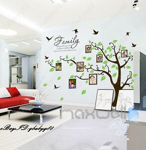 Family Like Branch Photo Picture Frame Tree Wall Stickers Vinyl