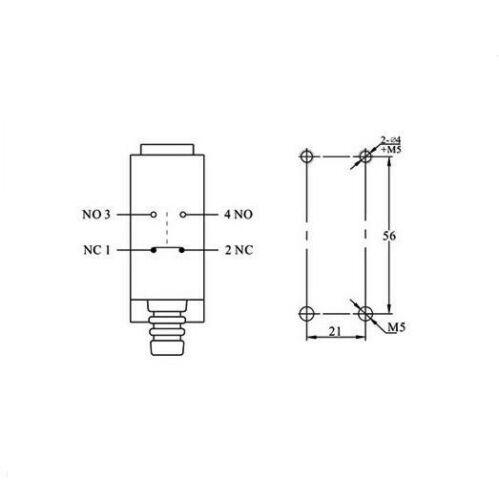 1 168 no+nc Micro interruptor de límite SPDT Metal Extremo Resorte Flexible Tipo De Varilla xz-8